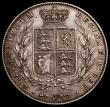 London Coins : A169 : Lot 1573 : Halfcrown 1842 ESC 675, Bull 2717 EF/About EF with some light contact marks and small flecks of toni...