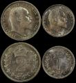 London Coins : A169 : Lot 1651 : Maundy Set 1903 ESC 2519, Bull 3609 in PCGS holders Fourpence 1903 graded PL66, Threepence 1903 grad...