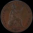 London Coins : A169 : Lot 1672 : Penny 1839 Bronzed Proof Peck 1479, in a PCGS holder and graded PR65, always a popular coin with Pen...