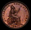 London Coins : A169 : Lot 1969 : Third Farthing 1827 Peck 1453 UNC the reverse with around 40% lustre, the reverse with around 15% lu...