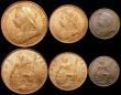 London Coins : A169 : Lot 2030 : Currency Set 1901 Halfcrown, Florin, Shilling, Sixpence, Threepence, Penny, Halfpenny and Farthing, ...