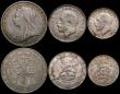 London Coins : A169 : Lot 2052 : Halfcrown 1918 EF and lustrous with some scratches, Florins (4) 1900 NEF/EF with grey tone, 1917 NEF...