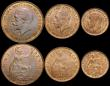 London Coins : A169 : Lot 2053 : Halfcrown 1928 GEF toned, Florin 1928 EF/AU toned, Shilling 1928 GEF toned, Penny 1928 A/UNC with tr...