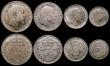 London Coins : A169 : Lot 2094 : Proof Set 1902 Matt Proofs a part set (8 coins) comprising Halfcrown, Florin, Shilling, Sixpence, an...