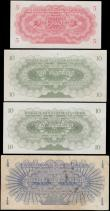 London Coins : A169 : Lot 231 : Libya UNITED KINGDOM Law of 1951 'Libyan Pound' issues (4) in about VF to about UNC compri...