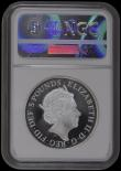 London Coins : A169 : Lot 481 : Five Pound Crown 2018 Coronation of Queen Elizabeth II Sapphire (65th) Anniversary Silver Proof Pied...