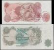 London Coins : A169 : Lot 53 : Bank of England Fforde QE2 portrait & seated Britannia Replacement issues 1967 (2) comprising a ...