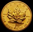 London Coins : A169 : Lot 865 : Canada Gold Ten Dollars 1989 KM#136 Lustrous UNC still sealed in the vinyl envelope
