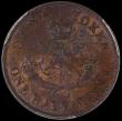 London Coins : A169 : Lot 867 : Canada Halfpenny Token 1854 Bank of Upper Canada, Plain 4, KM#Tn2, Breton 720, Charlton PC-5C1, thin...