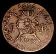 London Coins : A170 : Lot 1070 : Ireland Shilling Gunmoney 1689 Oct: S.6581E, Timmins TB12E-1F Good Fine/Fine, a little weak in parts...
