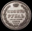 London Coins : A170 : Lot 1170 : Russia Rouble 1854 C?? HI C#168.1 NEF and lustrous with some contact marks