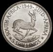 London Coins : A170 : Lot 1181 : South Africa Crown 1949 Proof KM#40.1 only 800 pieces minted nFDC with a few light marks and a handl...