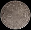 London Coins : A170 : Lot 1352 : Crown 1662 Rose below bust, edge dated 1662, die axis inverted, ESC 17, Bull 344, Fine or better, in...