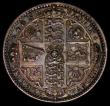 London Coins : A170 : Lot 1537 : Florin 1849 WW obliterated by linear circle, ESC 802A, Bull 2816 NEF with some contact marks, the ob...