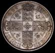 London Coins : A170 : Lot 1543 : Florin 1872 ESC 840, Bull 2878, Davies 756, dies 3B, Top Cross overlaps border beads, Die Number 47,...