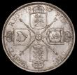 London Coins : A170 : Lot 1553 : Florin 1887 Jubilee Head, Large Capital J in J.E.B. ESC 868, Bull 2953, Davies 810 dies 1A, A/UNC wi...