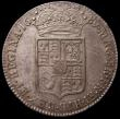 London Coins : A170 : Lot 1691 : Halfcrown 1689 Second Shield, Caul only frosted, with pearls ESC 510, Bull 839 GEF/AU with golden to...