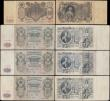London Coins : A170 : Lot 234 : Russia (10) mostly early 1900's Gosudarstvenniy Bank issues in various circulated grades in ave...