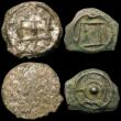 London Coins : A170 : Lot 427 : Celtic Units (4) Potin (c.120-100BC) Thurrock Butting Bull type S.62 (2), Class II type S.64 (2) one...