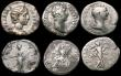 London Coins : A170 : Lot 445 : Roman Denarii (5) Trajan (98-117AD) Obverse: Laureate bust right, IMP CAES NER TRAIANO OP[TIMO AVG G...