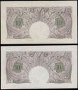London Coins : A170 : Lot 53 : Ten Shillings Peppiatt Second Period B251 Mauve World War II Emergency issue 1940 (2) serial numbers...