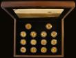 London Coins : A170 : Lot 584 : One Pound 2008 The 25th Anniversary Gold Proof Collection, a 14-coin set in gold S.PG1PCS, comprisin...
