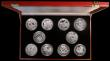 London Coins : A170 : Lot 831 : Isle of Man/Gibraltar/Liberia 5oz. Silver Issues a 10-coin set 1987-1995 by Pobjoy Mint comprising I...
