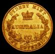 London Coins : A170 : Lot 928 : Australia Sovereign 1865 Sydney Branch Mint Marsh 370 VF with some contact marks