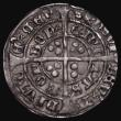 London Coins : A171 : Lot 1220 : Groat Henry VII Facing Bust, New Bust with realistic hair, double arched crown with only the top arc...