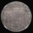 London Coins : A171 : Lot 1339 : Dollar George III Octagonal Countermark on a Peru 8 Reales 1796 LIMA mintmark ESC 140A, Bull 1872, i...