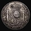 London Coins : A171 : Lot 1342 : Dollar George III Oval Countermark on a Mexico 8 Reales 1791 Mo FM ESC 129, Bull 1852 Countermark VF...