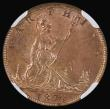 London Coins : A171 : Lot 1357 : Farthing 1873 High 3 in date (3 clear of linear circle) Freeman 524, dies 3+B in an NGC holder and g...