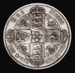 London Coins : A171 : Lot 1382 : Florin 1870 ESC 836, Bull 2870, Davies 752, dies 3B, Top Cross overlaps border beads, Die Number 21,...