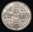 London Coins : A171 : Lot 1385 : Florin 1881 ESC 856, Bull 2902 EF the obverse with some light contact marks, the reverse with fine h...