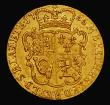 London Coins : A171 : Lot 1438 : Half Guinea 1756 S.3685 VF with some hairlines and light contact marks, many early milled gold types...
