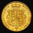 London Coins : A171 : Lot 1471 : Half Sovereign 1877 Marsh 452, Die Number 54 Bright GVF with some surface marks, with signs of edge ...