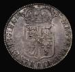 London Coins : A171 : Lot 1507 : Halfcrown 1689 First Shield, Caul and Interior frosted, with pearls, ESC 503, Bull 826, About VF, th...