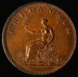 London Coins : A171 : Lot 1569 : Halfpenny 1806 Peck 1376 chocolate Unc and graded 75 by LCGS