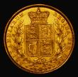 London Coins : A171 : Lot 1813 : Sovereign 1851 GVF gilded, the surfaces suggest formerly in a mount