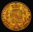 London Coins : A171 : Lot 1839 : Sovereign 1858 Large Date as Marsh 41 the last 8 overstruck, possibly over a high 8, the underlying ...