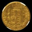 London Coins : A171 : Lot 1855 : Sovereign 1863 No Die Number, S.3852D, Marsh 46, in an NGC holder and graded AU58