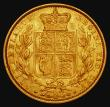 London Coins : A171 : Lot 1857 : Sovereign 1864 Marsh 49, S.3853, Die Number 91, VF/NEF with a striking flaw on the obverse