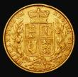 London Coins : A171 : Lot 1860 : Sovereign 1865 Marsh 50, S.3853, Die Number 17 Good Fine with an edge nick