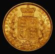 London Coins : A171 : Lot 1876 : Sovereign 1871S Shield Reverse, WW incuse on truncation, S.3855A NEF/EF and lustrous, the reverse wi...