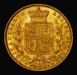 London Coins : A171 : Lot 1877 : Sovereign 1871S Shield Reverse, WW raised on truncation, S.3855, GVF/EF