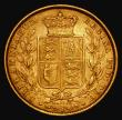 London Coins : A171 : Lot 1883 : Sovereign 1872 Shield Reverse, Marsh 56, S.3853, Die Number 28 Good Fine/Near VF