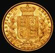 London Coins : A171 : Lot 1884 : Sovereign 1872 Shield Reverse, Marsh 56, S.3853, Die Number 47 NVF/GVF