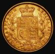 London Coins : A171 : Lot 1886 : Sovereign 1872 Shield Reverse, Marsh 56, S.3853, Die Number 76 VF/GVF