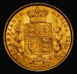 London Coins : A171 : Lot 1888 : Sovereign 1872 Shield Reverse, No Die Number, Marsh 47, EF