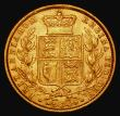 London Coins : A171 : Lot 1889 : Sovereign 1872 Shield Reverse, No Die Number, Marsh 47, S.3853B Good Fine/NVF